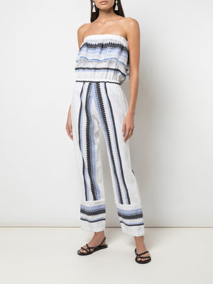 Aster Strapless Ruffle Jumpsuit