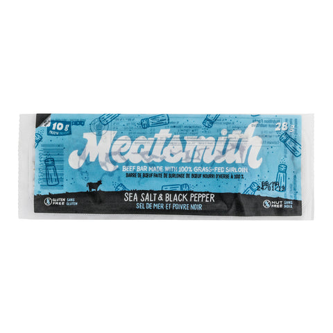 Sea Salt & Black Pepper Beef Bar - Meatsmith - 84g