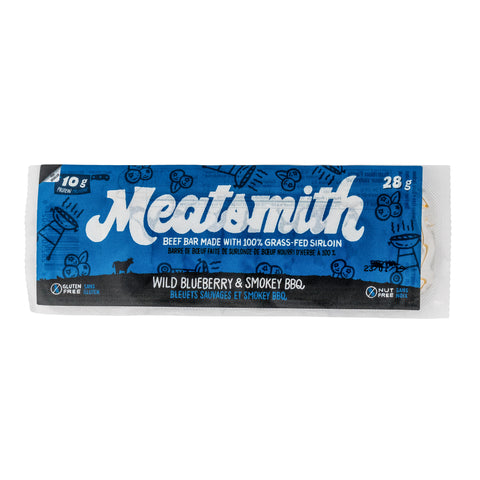 Wild Blueberry & Smokey BBQ Beef Bar - Meatsmith - 84g