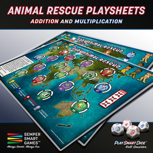 Playsheet: Dice Addition and Multiplication Games: Baby Animal Rescue