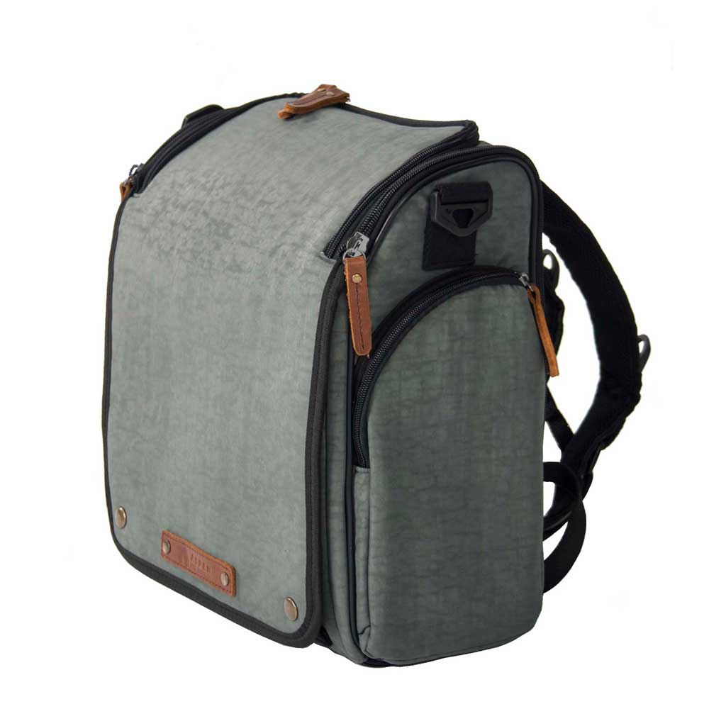 Aspen Tyke Traveler Diaper Bag Set: Forest Grey