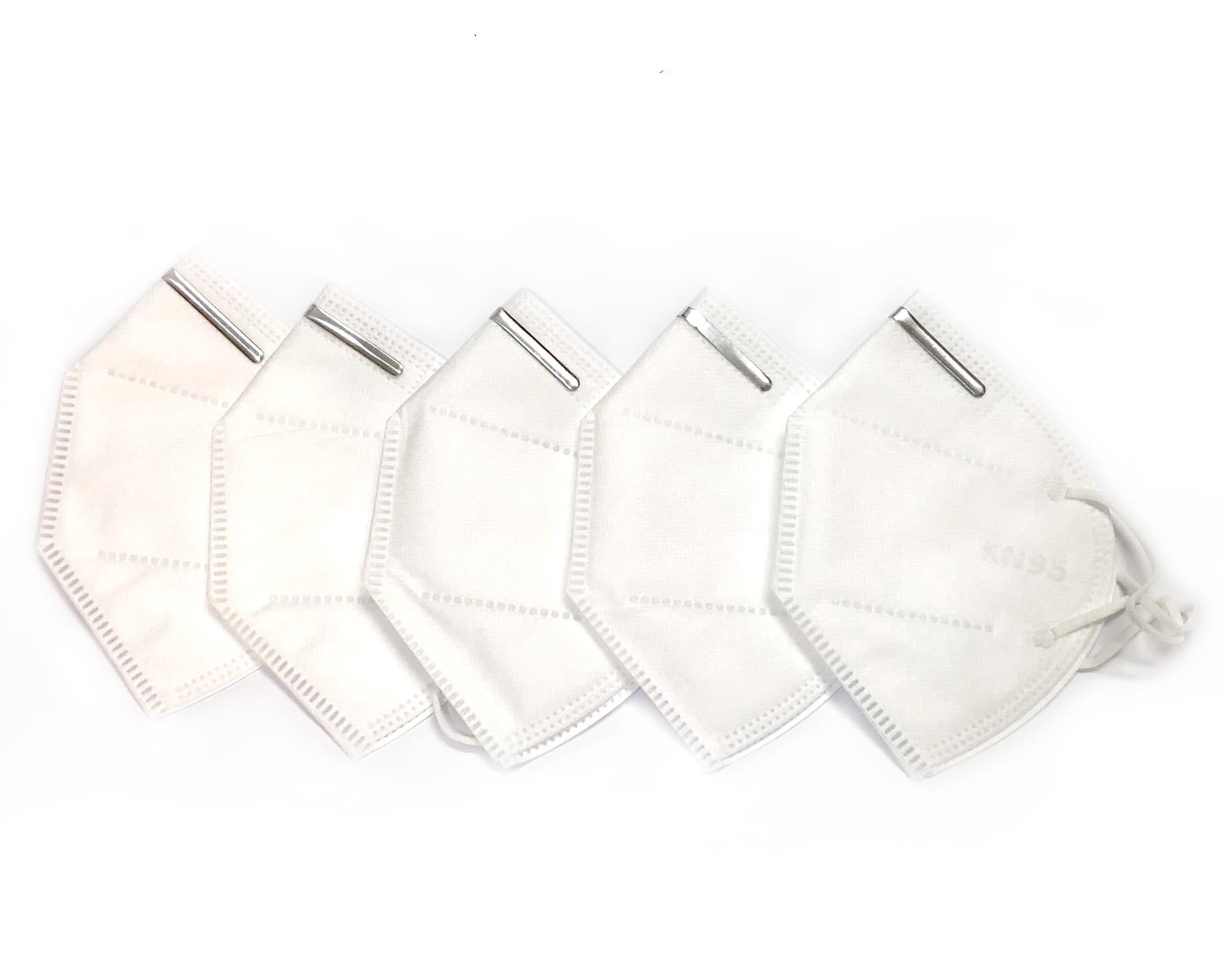 KN95 Face Mask: 5 PCS/pack, 2 PACKS, 10 Pieces total