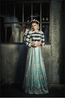 The Gingham Jacket & Lace Lehenga