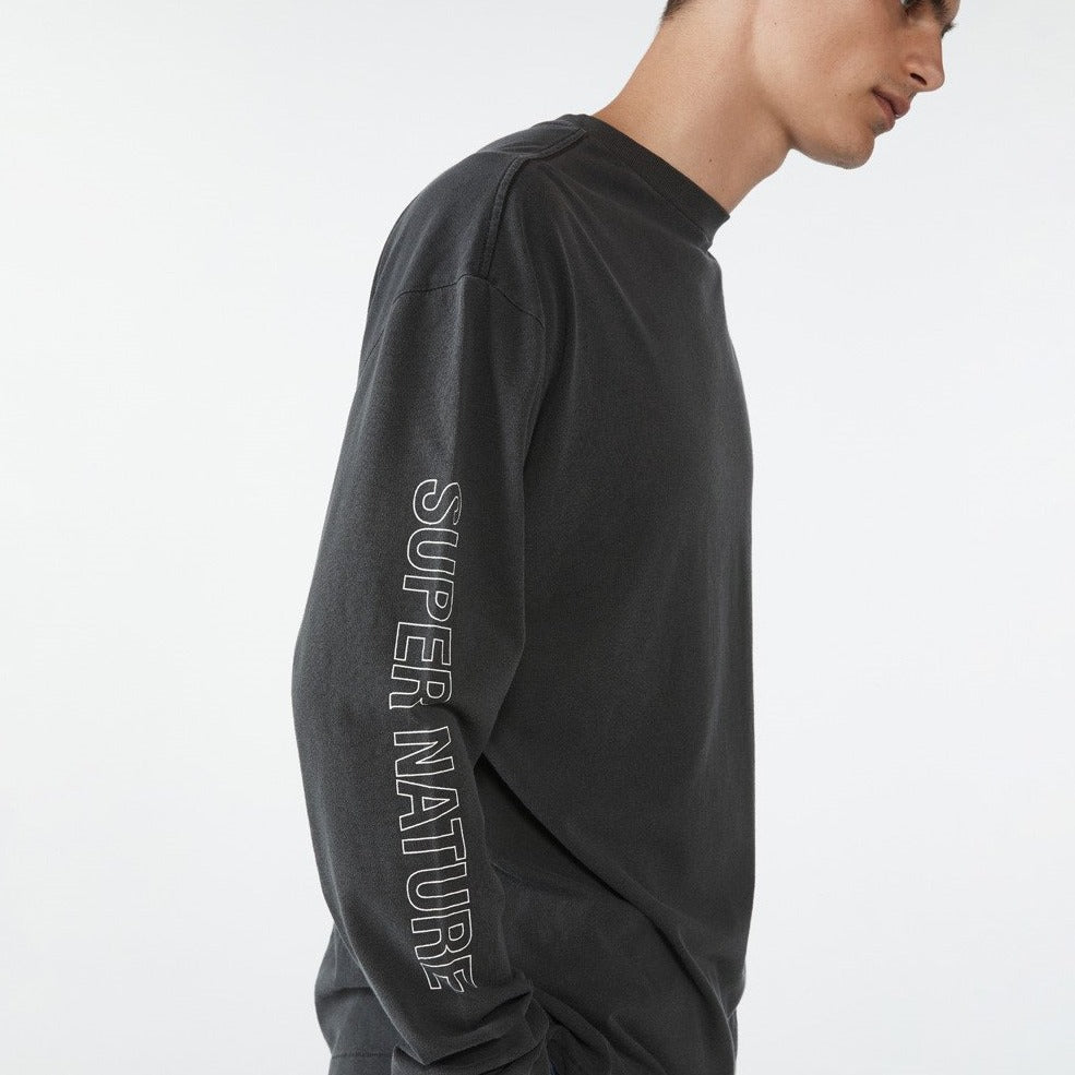 SUPER NATURE LS TEE BACK TO BLACK