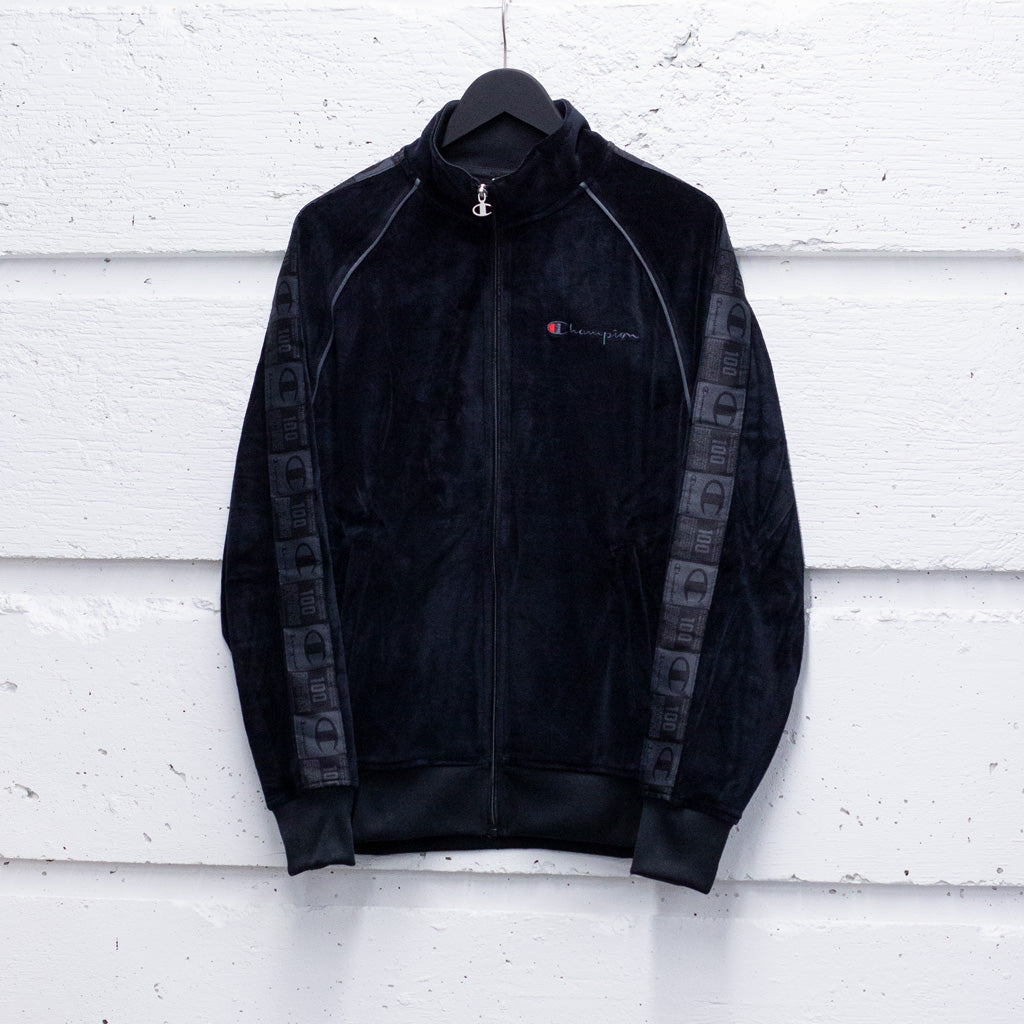 CHAMPION VELOUR TAPING TRACK JACKET