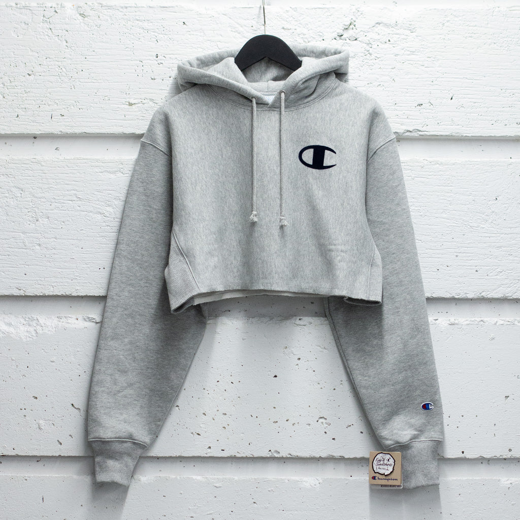 CHAMPION CROPPED HOODIE W