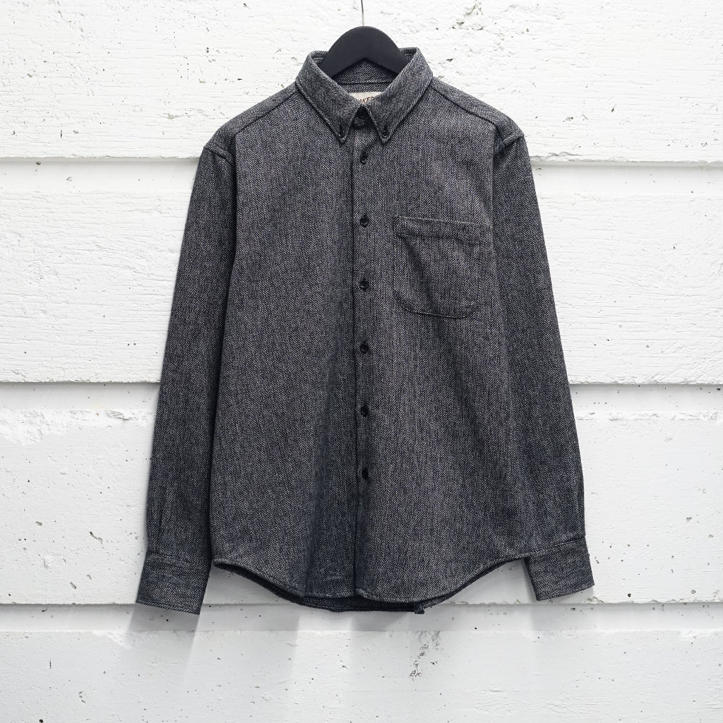 NAKED & FAMOUS COTTON TWEED SHIRT