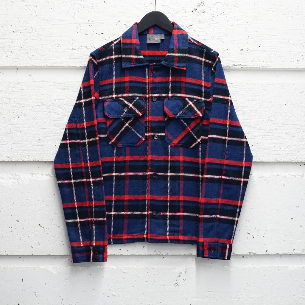NAKED & FAMOUS HEAVYWEIGHT VINTAGE FLANNEL WORK SHIRT