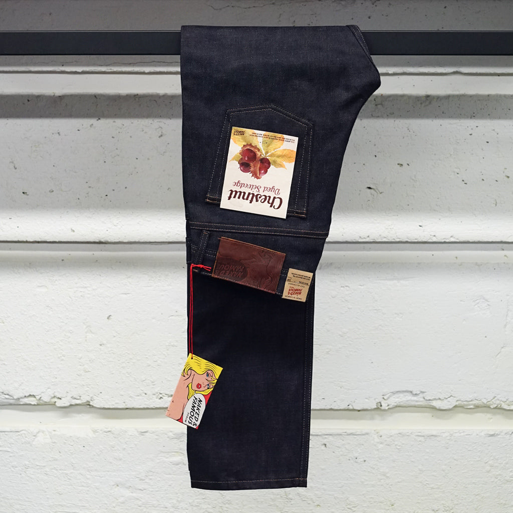 NAKED & FAMOUS CHESTNUT DYED SELVEDGE JEANS