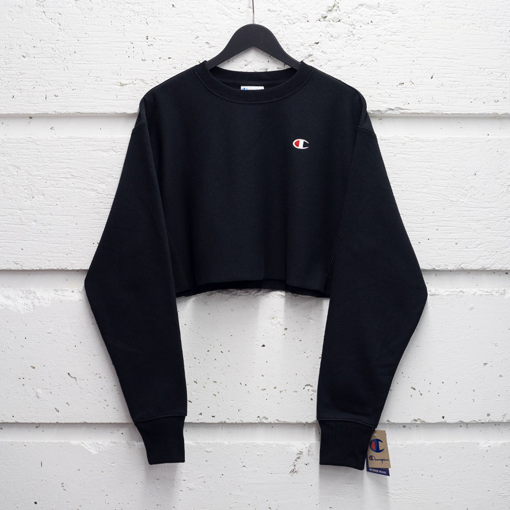 CHAMPION CROPPED REVERSE WEAVE CREW W