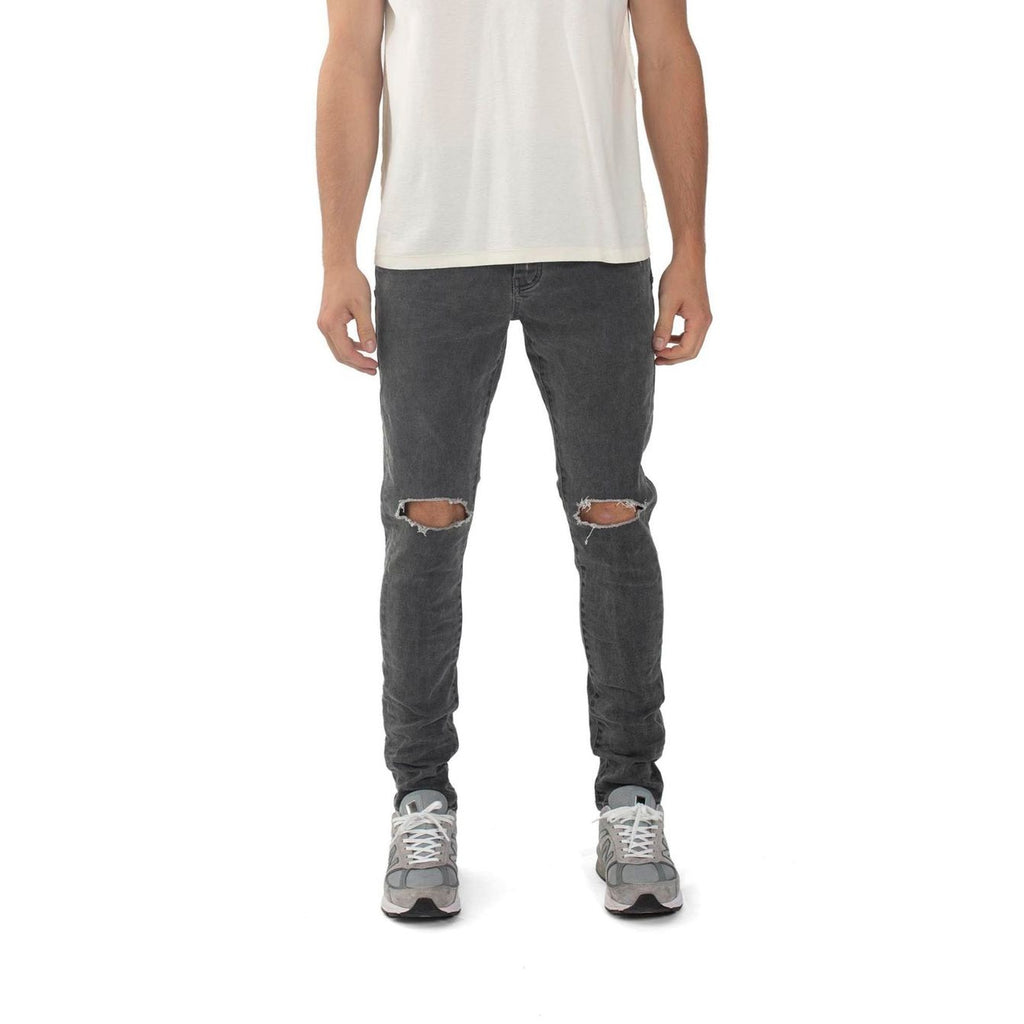 PURPLE BRAND GREY COATED WHITE P001 JEANS