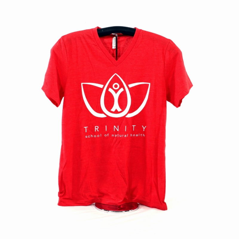 V-Neck Shirt - Heather Red