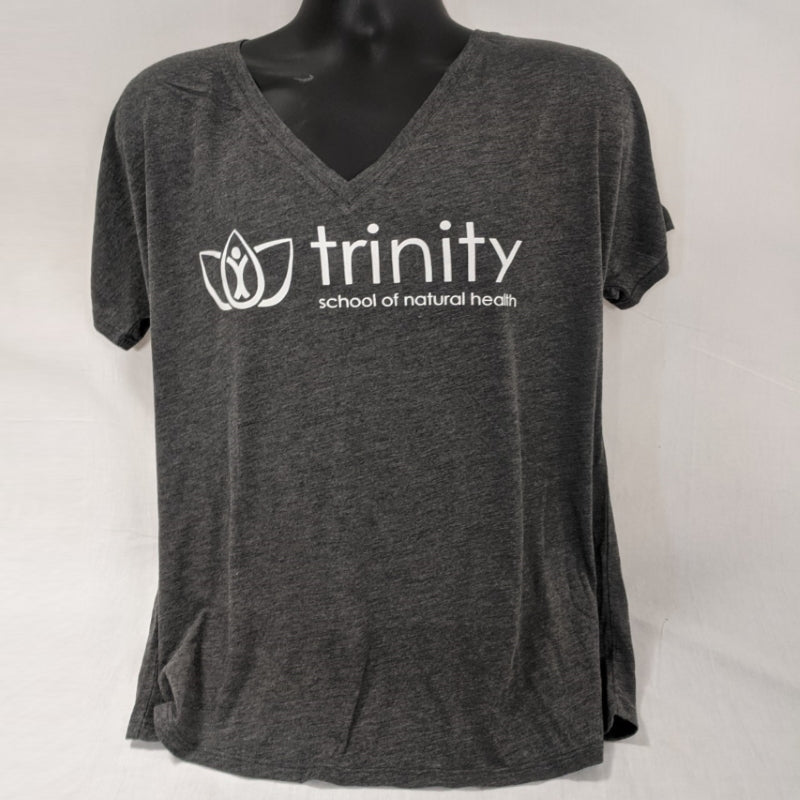 V-Neck Shirt - Gray with old Logo