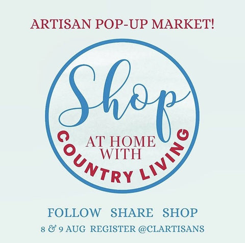 Country Life artisan pop up market this weekend!