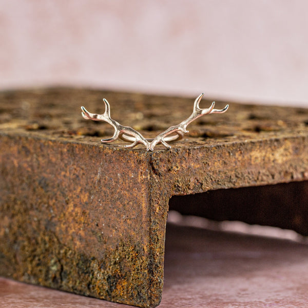 Antler Ring plated in Rose Gold Vermeil