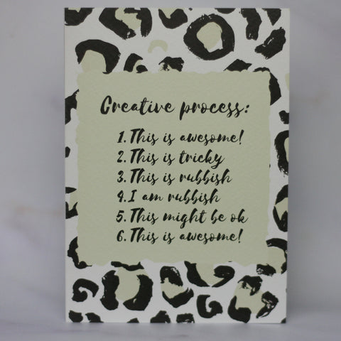 Creative process Card