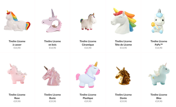 collection tirelire licorne | Tirelissimo