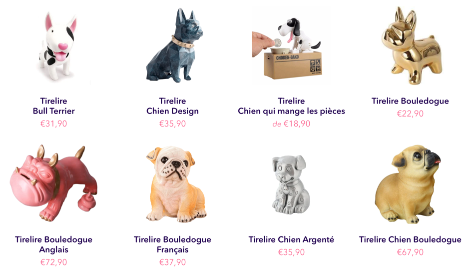 tirelire chien originale adulte