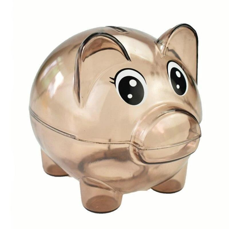 Cochon Tirelire Transparent