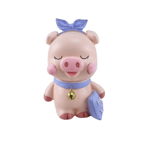 Figurine Cochon Rose