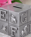 Tirelire Cube Alphabet