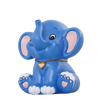Tirelire Elephant Bleu