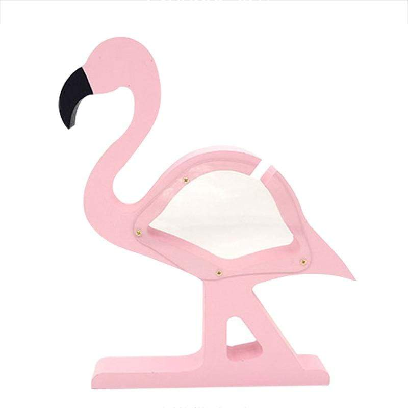 Tirelire Flamant Rose En Bois