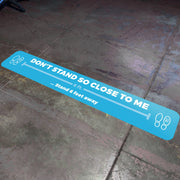 6 Foot Spacer Nonslip Floor Decal