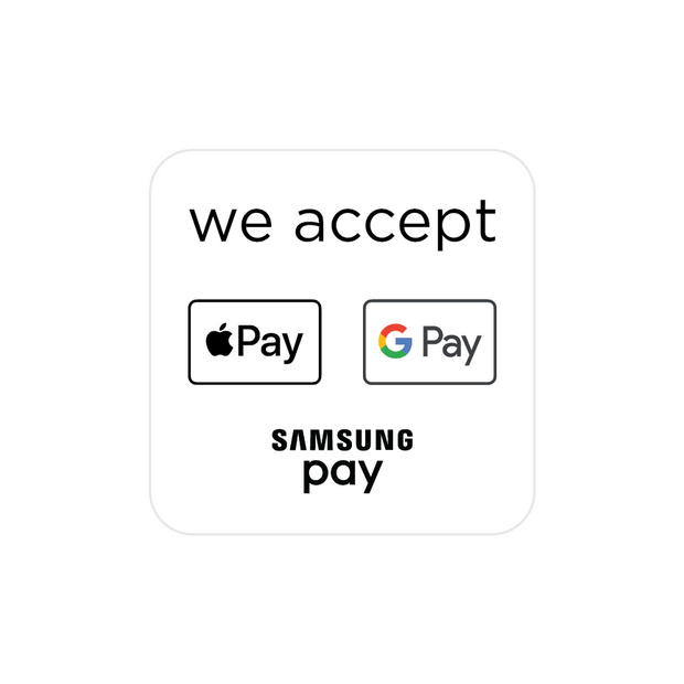 """We Accept"" Touchless Shopping Graphics"