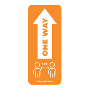 One Way Arrow With Distancing Nonslip Graphic