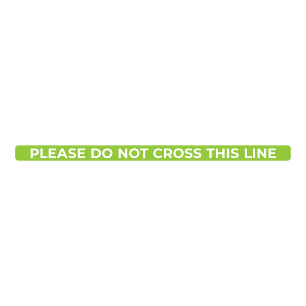 Do Not Cross This Line Nonslip Floor Graphic