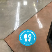 Stand Here Funny Nonslip Floor Graphic