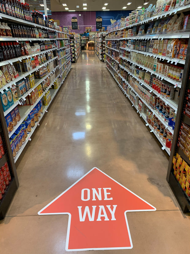 Nonslip Directional Shopping Floor Graphics