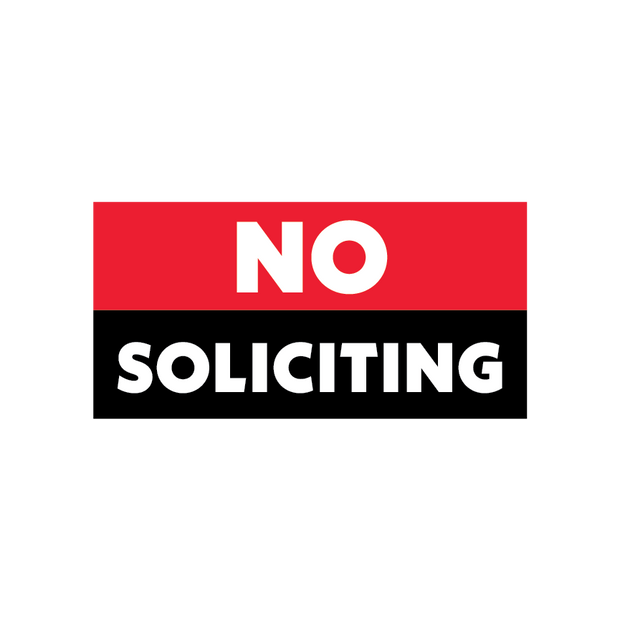 """No Soliciting"" Door Vinyl"