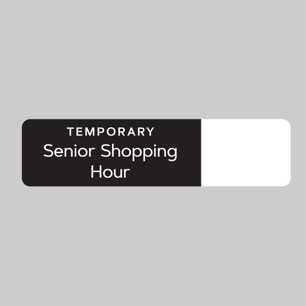Senior Shopping Hours Dry Erase Decal (2)