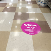 Wrong Way Circle Nonslip floor Graphic
