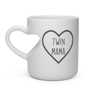 Twin Mama Heart Shape Mug