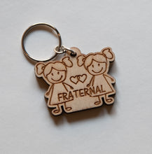 Load image into Gallery viewer, My Twins Are... Keychain