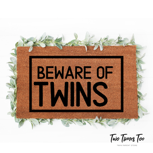 Beware of Twins Welcome Mat