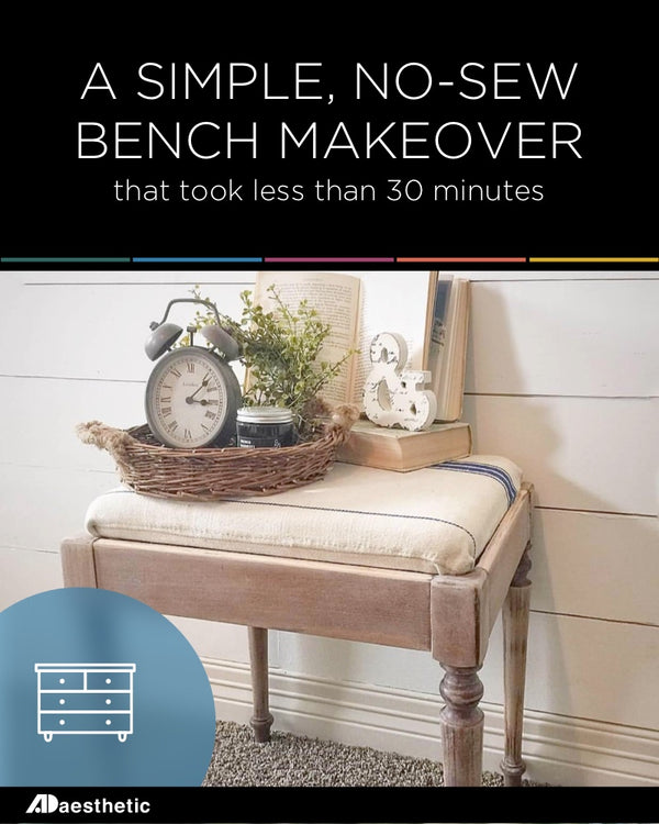 A No-Sew 30 Minute Bench Makeover