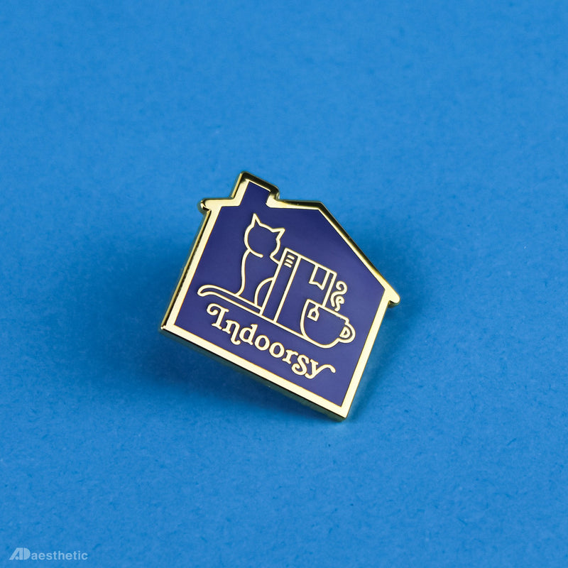 Indoorsy Enamel Lapel Pin