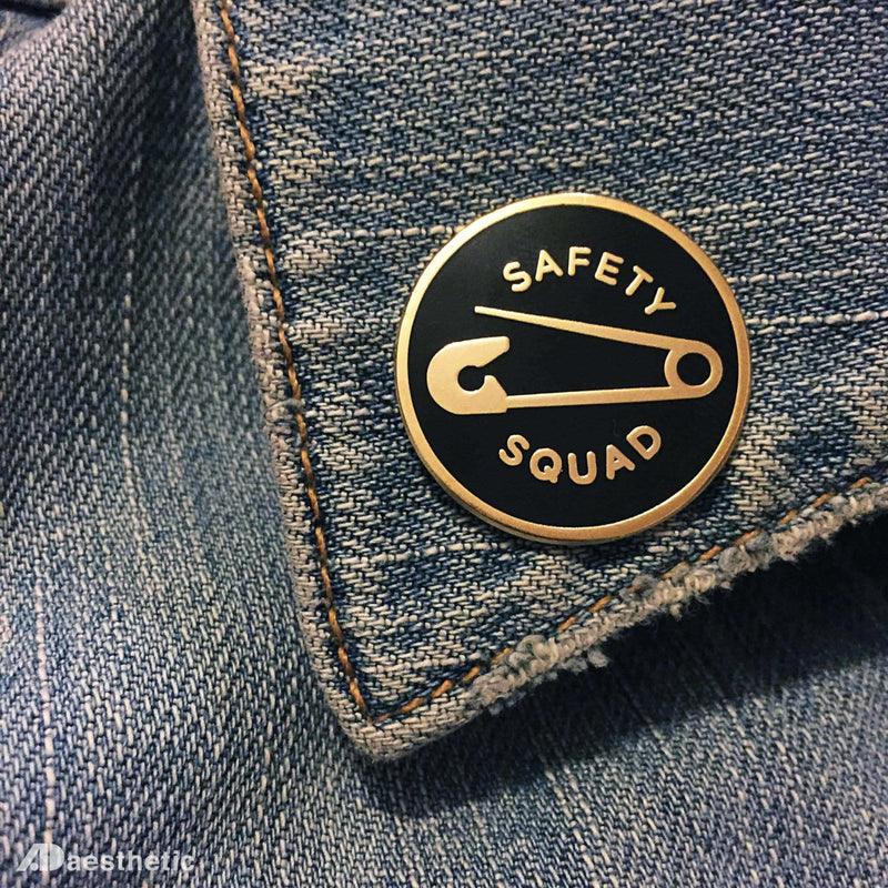 Safety Squad Enamel Lapel Pin