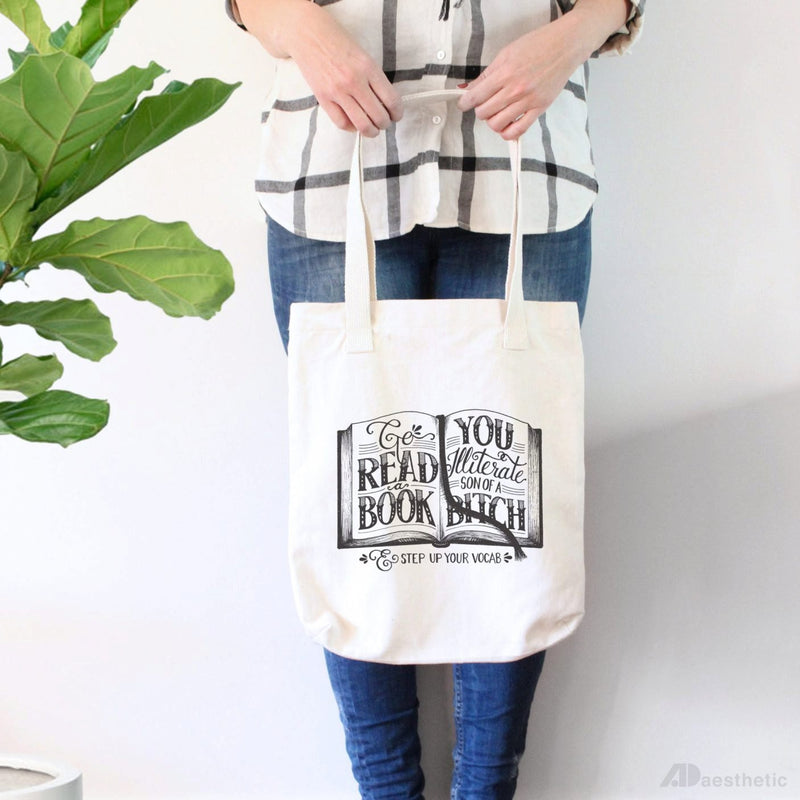 Go Read a Book Tote Bag