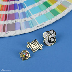 Designer's Enamel Lapel Pins • Set of 3