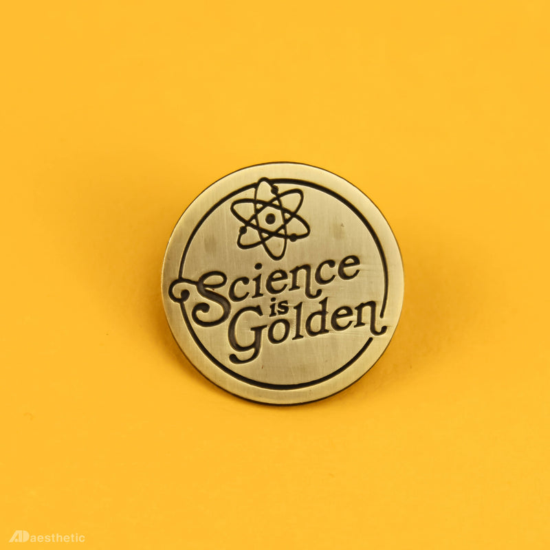 Science is Golden Lapel Pin