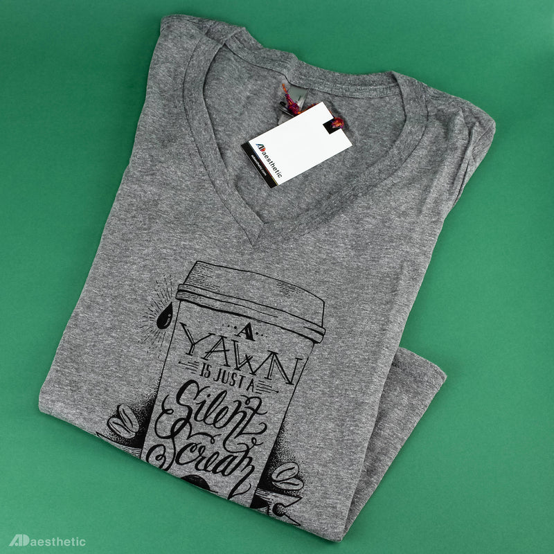 Scream for Coffee V-neck T-shirt