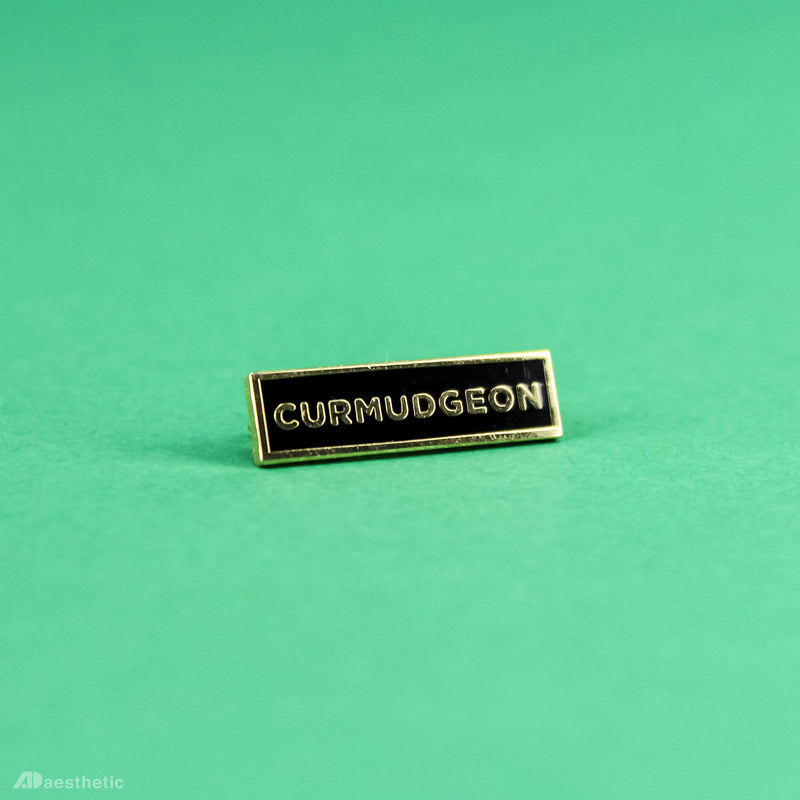 Curmudgeon Enamel Lapel Pin