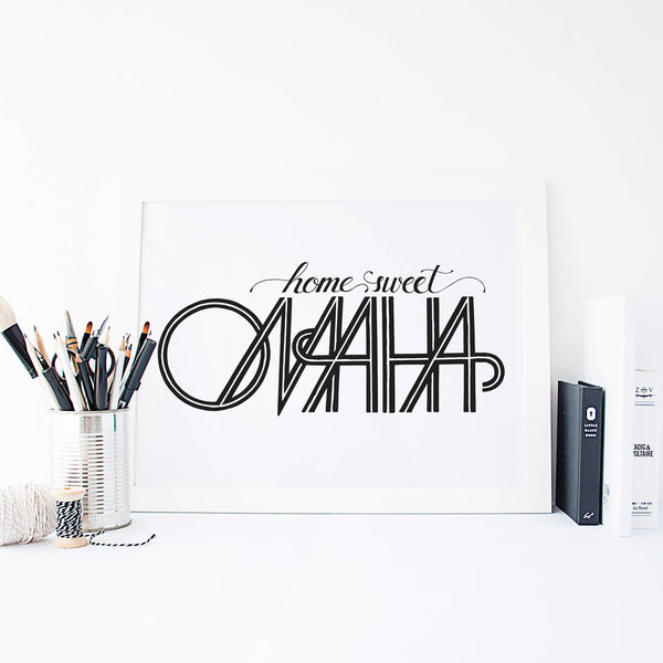 Home Sweet Omaha Poster
