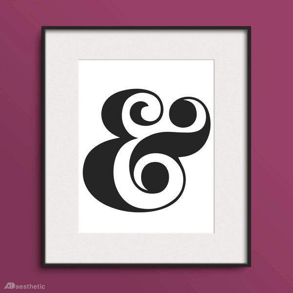 Ampersand Artwork Poster
