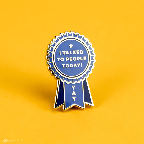 Introvert Award Enamel Lapel Pin